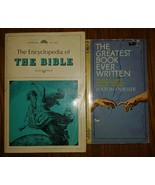 2 Books The Greatest Book Ever Written Encyclopedia Of The Bible Pb vintage - $6.93