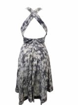 Stella McCartney Women Sleeveless Gray/Purple Summer Floral Print Dress Sz 38 image 3
