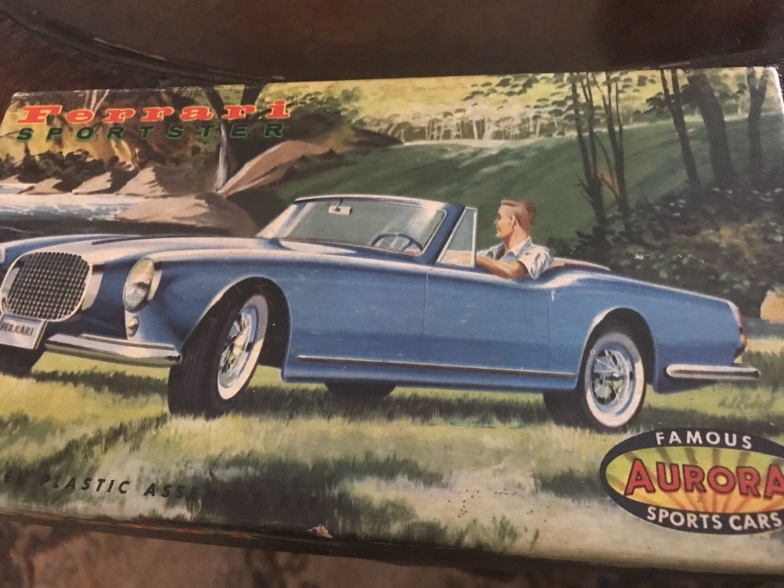 Primary image for Aurora Ferrari Sportster Model Kit Box Only