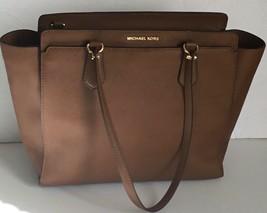 Michael Kors Handbag Dee Dee Large Saffiano Convertible Tote Shoulder Br... - $92.99