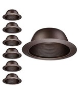 TORCHSTAR 6 Pack 6-Inch Recessed Can Light Trim, Oil Rubbed Bronze Metal... - $55.64