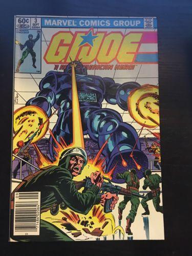GI Joe (1982 Marvel) #3 VF Very Fine Marvel Comics Newsstand