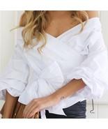 Reglan Off-Shoulder White Blouse SALE!! - $50.00