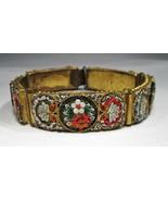 Estate Vintage Long Micro Mosaic Bracelet C2131 - $66.69