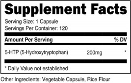 Nutricost 5-HTP 200mg, 120 Veggie Capsules (5-Hydroxytryptophan) - Glute... - $49.42