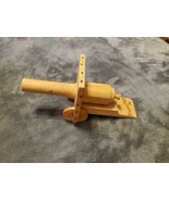 VINTAGE WOODEN TOY CANNON CHILD'S TOY - $20.00