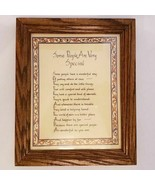 Some People Are Very Special Poem Framed Plaque Wood Frame - $11.47