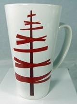 """STARBUCKS 16 oz Coffee Mug Christmas Holiday Modern Stick Tree 6"""" Tall  2012 - $10.69"""