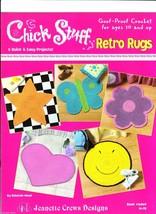 Crochet rag rug pattern Retro Rugs chick stuff star butterfly heart flow... - $12.73