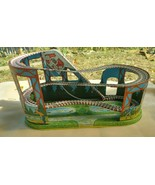 J. CHEIN VINTAGE WIND UP DRIVE BELT ROLLER COASTER TIN TOY  - £169.98 GBP