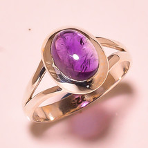 REAL Amethyst CABOCHON 925Sterling Silver Ring Size 4.75 FreeShipping  R64 - $7.30