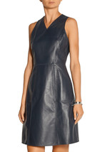 WOMEN PURE LEATHER DRESS GENUINE LAMBSKIN TAILOR CASUAL COCKTAIL FORMAL ... - $180.00