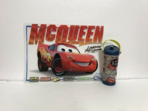 Disney Cars Lightning Mcqueen Kids Placemat Sippy Cup  - $19.79