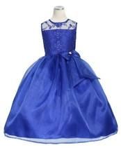 Flower Girl Wedding Pageant Organza Tea-Length Dress sz 2 4 6 8 10 12 Ro... - $68.00