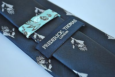 Frederick Thomas Navy Mens Tie with Sherlock Holmes Design FT1923