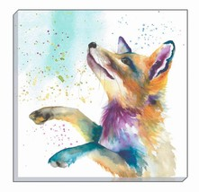 ARTISTIC ANIMALS COLOURFUL RURAL RED FOX EVANS LICHFIELD CANVAS WALL ART... - $23.21
