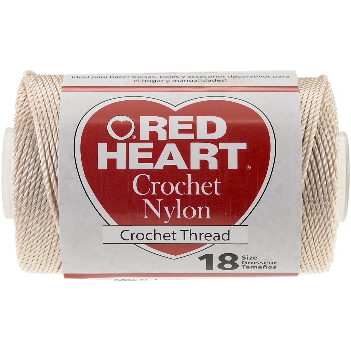 Red Heart Nylon Crochet Thread Size 18-Natural - $12.86