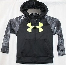 UNDER ARMOUR UA CAMO PULL-OVER BOYS HOODIE, SIZE 3T, BLACK/GRAY  - $19.79