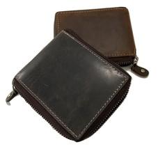Paul & Taylor Hunter Buffalo Leather Bifold Zipper 54365 - $26.95