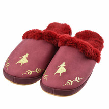 Disney Store Japan Room Shoes Frozen Fur Anna Frozen 2 Mouton style red  - $72.27