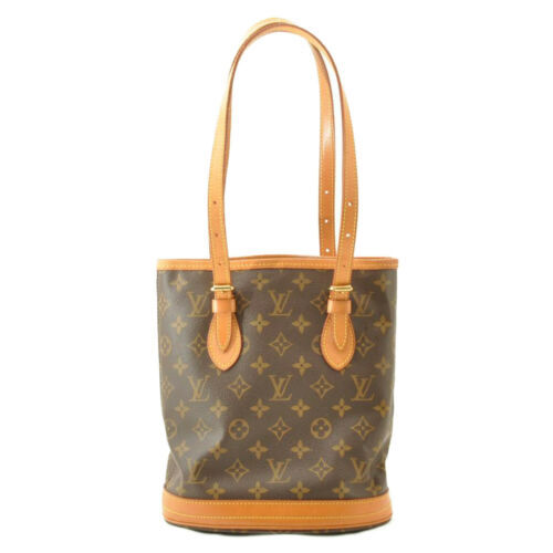 LOUIS VUITTON Monogram Bucket PM Shoulder Bag M42238 LV Auth sa2271 **Sticky image 2