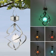 Color Changing Solar Powered Garden Light Outdoor Courtyard Hanging Spir... - $34.99