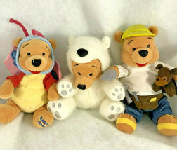 3 Disney Store Plush Bean Bag Winnie the Pooh and friends butterfly cons... - $19.79