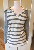 Hoodie B Original Boutique Pullover Striped Womens M - $12.99