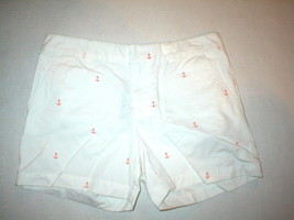 NWT New Womens Tommy Hilfiger Shorts 6 Anchor Orange White Casual Nice T... - $65.00