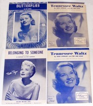 Vintage Sheet Music ~ PATTI PAGE ~ Lot of 4 © 1948 to 1957 - $12.99
