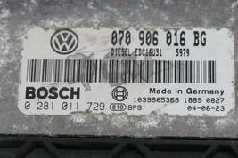 05' VW Toureg 5.0 V10 tdi Diesel Module Computer ECM ECU 070906016BG image 2
