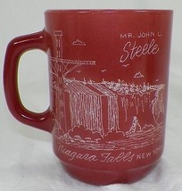 UNIQUE ETCHED 1981 AFRES NIAGRA FALLS SECURITY POLICE CONFRENCE ON AH MUG - $14.99