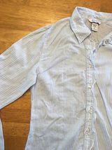 Abercrombie Girl's Blue & White Striped Long Sleeve Dress Shirt - Size XL image 6