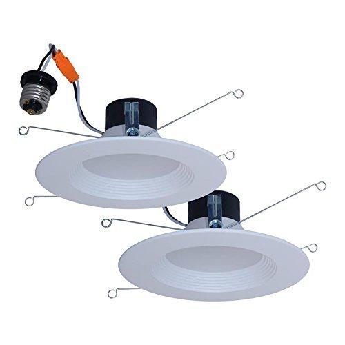 Utilitech 2-Pack 65-Watt Equivalent White Dimmable LED