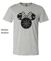 Halloween Minnie Mouse t shirt, minnie mouse glittered artwork design top tee image 5