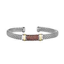 Phillip Gavriel Sterling Silver Garnet Bar Design Cuff Bracelet - $319.99