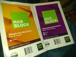 H&R Block Tax Software Homeowners/ Investors Deluxe +State 2019 & Simple Situati - $12.17