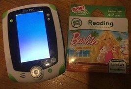 LeapFrog LeapPad 1 Learning Tablet System Green Works w. NEW BARBIE game... - $28.01