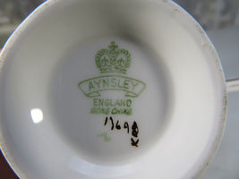 Vintage Aynsley Porcelain Tea Cup Hathaway Bone China Pink Roses England image 9