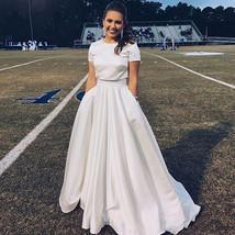 Lady Full Pleated Maxi Taffeta Skirt White Taffeta Wedding Party Skirt Plus Size image 1