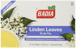 Badia Tea Bags, Linden, 25-Count Pack of 10 - $37.88