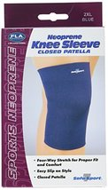 FLA Safe-T-Sport Neoprene Knee Sleeve Closed, Navy, XX-Large - $18.78