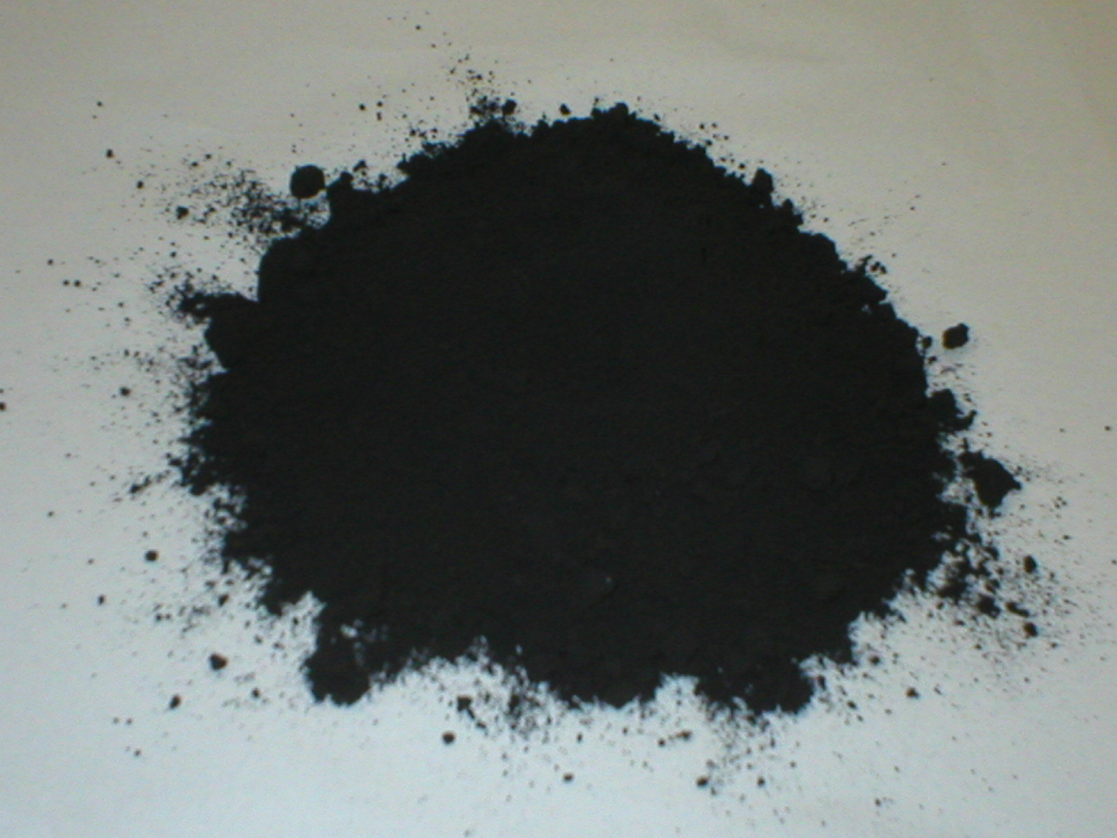 Powdered concrete color black