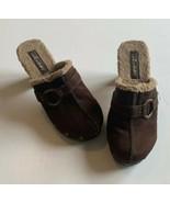 "Women's Unionbay ""Spuds"" Brown Faux Fur Clog Platform Shoes 3 Inch Heel ... - $26.72"
