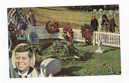 JOHN F. KENNEDY ARLINGTON NATIONAL CEMETERY VINTAGE UNUSED POSTCARD - $1.98