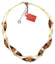 Necklace Antique Murrina,CO767A10,Cones,Colour Amber,Yellow,Two Wires,Murano image 2