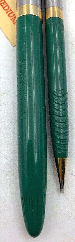 Sheaffer Peacock Blue Sentinel Snorkel fountain pen pencil set original