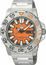 Seiko 5 Men's SNZF49  Automatic Divers Orange Dial Watch Limited 100M - $297.30 CAD