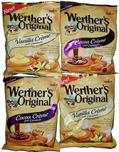 Werther's Original Candy Bundle with 2 Vanilla Creme and 2 Cocoa Creme S... - $19.99