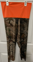 RealTree Camouflage Camo Capri Leggings Orange Waist Women's Size M/L - $14.84